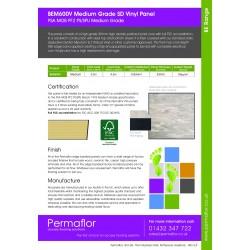 BEM600V - Polyflor Teal - Permaflor - 20.52 - BEM600V - Polyflor Teal - PSA Medium Grade 31mm  x 600mm x 600mm Panel