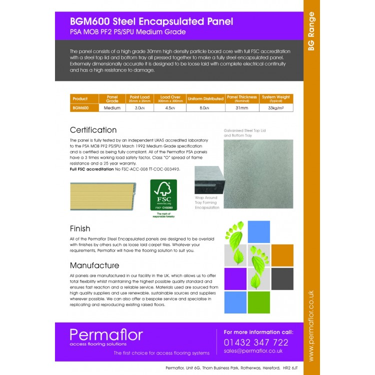 Free Delivery On All Permaflor Raised Access Floor Panels